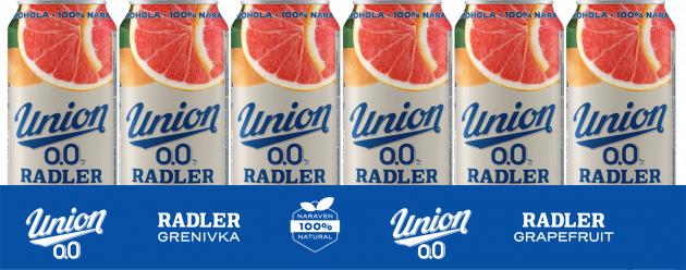 Union Radler 0.0 grenivka 24x0,5 pločevinka